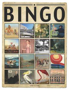 American Art Bingo Volume II by Kristin J. Draeger Bingo Card A