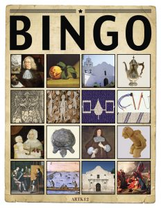 American Art Bingo Volume I by Kristin J. Draeager, Bingo Card 3
