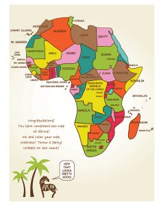 draw map of africa Draw Africa Kristin J Draeger draw map of africa