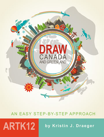 Draw Canada and Greenland by Kristin Draeger
