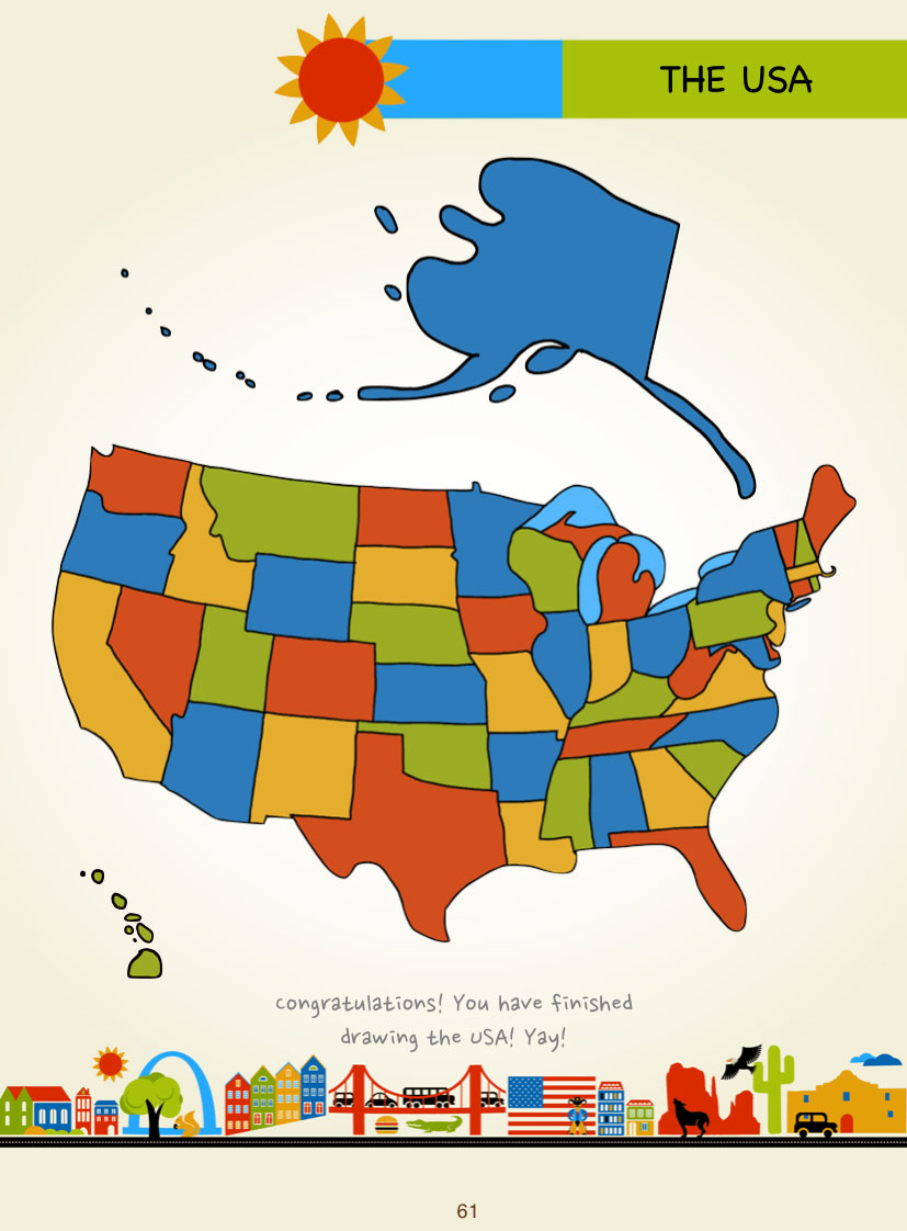 how to draw map of usa united states map youtube how to draw a