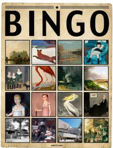 American Art Extra Bingo Card, Variation 13