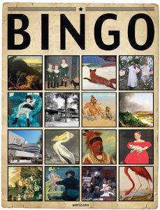 American Art Extra Bingo Card, Variation 14
