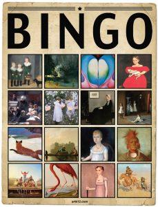 American Art Extra Bingo Card, Variation 11