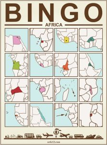 Africa Bingo, Bingo Card Example Two