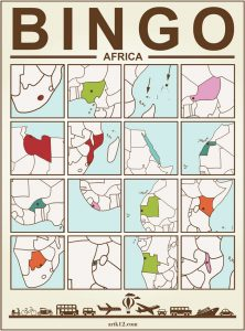 Africa Bingo, Bingo Card Example One
