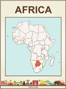 Africa Bingo Flash Card Front Three