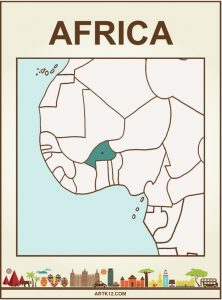Africa Bingo Flash Card Front Two