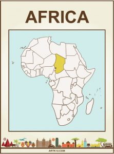 Africa Bingo Flash Card Front One