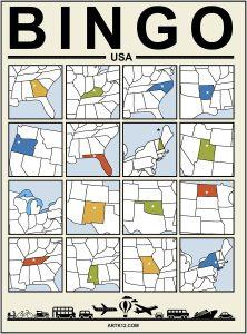 USA Extra Bingo 4 x 4 Version 2