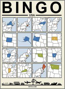 USA Extra Bingo 4 x 4 Version 1