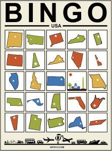 USA Extra Bingo 5 x 5 Version 2