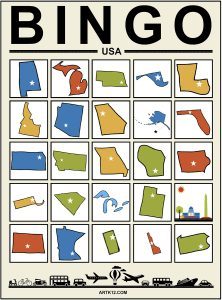 USA Extra Bingo 5 x 5 Version 1